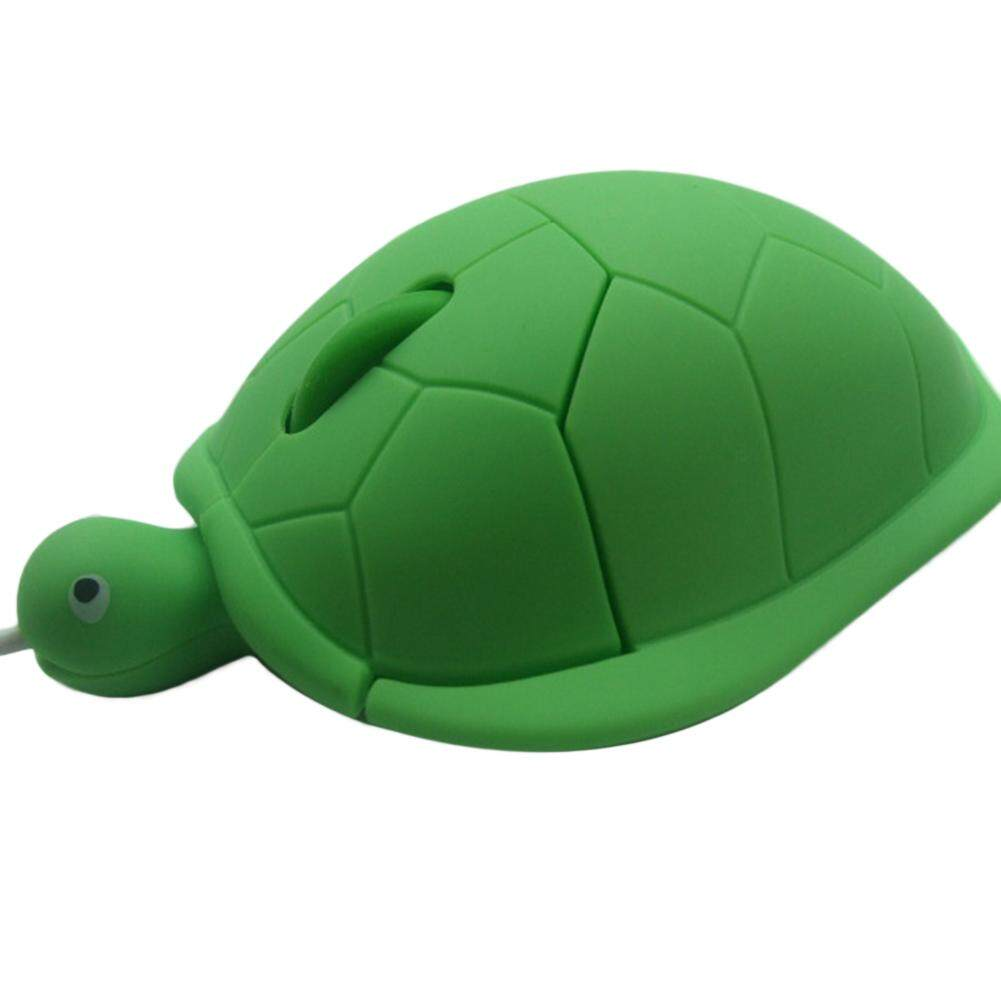 Turtle Kartun Mouse Kabel Optik Tikus Game untuk Komputer PC Laptop Lucu Inggris