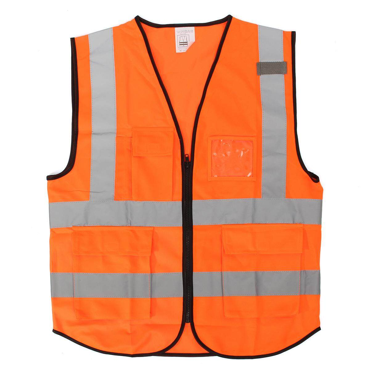 Orange Xl Hi Vis Vest Workwear Clothing Safety Reflective Vest Safety Vest Reflective Logo Printing By Freebang.