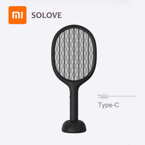 Xiao mi solove Vertical Electric Mosquito Swatter P1 Usb Rechargeable Mosquito Killer Handheld Fly Killer Swatter Home Smart Singapore