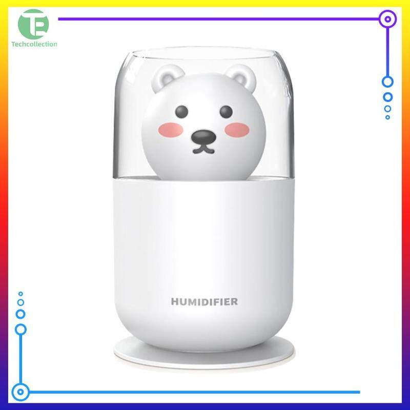 Cartoon Bear Air Humidifier 300ML Home Car USB Mist Maker with Night Lamp Singapore