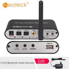 Neoteck Bộ Giải Mã Âm Thanh Bluetooth 5.1CH DA615BT-B Với Bộ Thu Quang DAC Âm Thanh Không Dây 5.0 Đĩa USB AUX Đồng Trục Hỗ Trợ Chơi DAC DTS AC3 FLAC