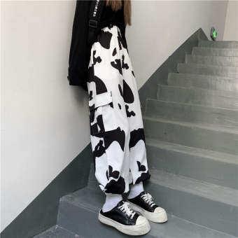 ผู้หญิงกางเกงลำลองเกาหลีแฟชั่นสไตล์พิมพ์กางเกงลำลอง2020ฤดูใบไม้ผลิใหม่