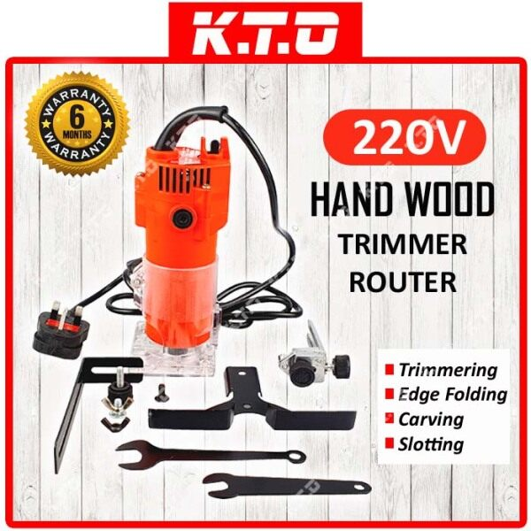 220V ELECTRIC HAND WOOD TRIMMER ROUTER POWER TOOLS for WOODWORKING ( 2 PACKAGE AVAILABLE ) / PEMOTONG KAYU