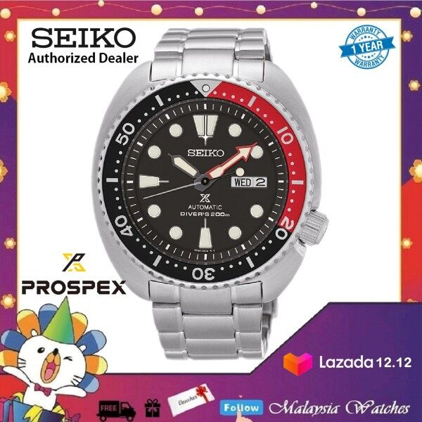 Seiko SRP789K1 Prospex Turtle Automatic Divers 200M Black Dial Hardlex Crystal Glass Stainless Steel Mens Watch Malaysia