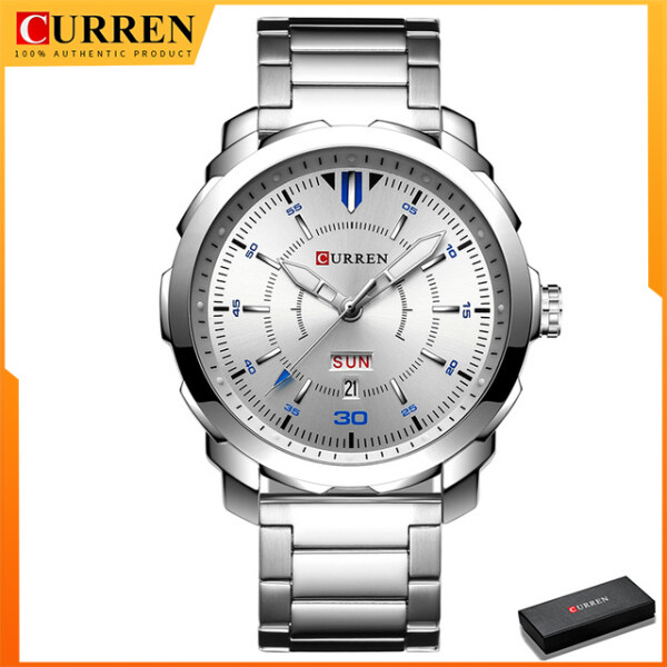 Curren Mens Stainless Steel Watches Top Brand Luxury Quartz Watch Formal Fashion Casual Wristwatch 8266 Malaysia
