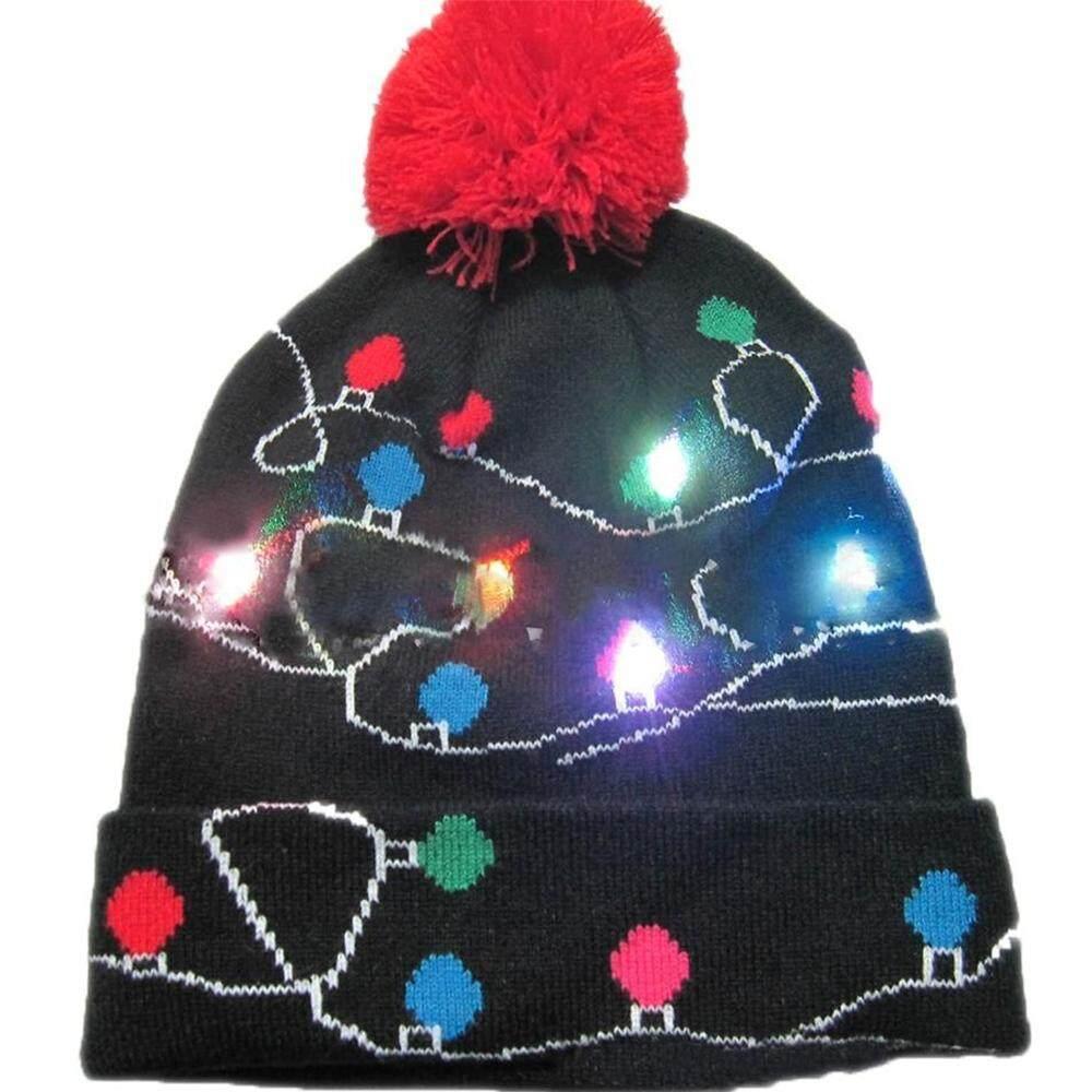 Sciolto Olahraga 4 Warna Keren Wol Led Glowing Topi Natal By Scioltosports.