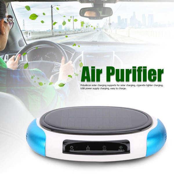 Máy lọc không khí ô tô, lọc ion âm dùng năng lượng mặt trời, loại bỏ formaldehyde, sạc USB