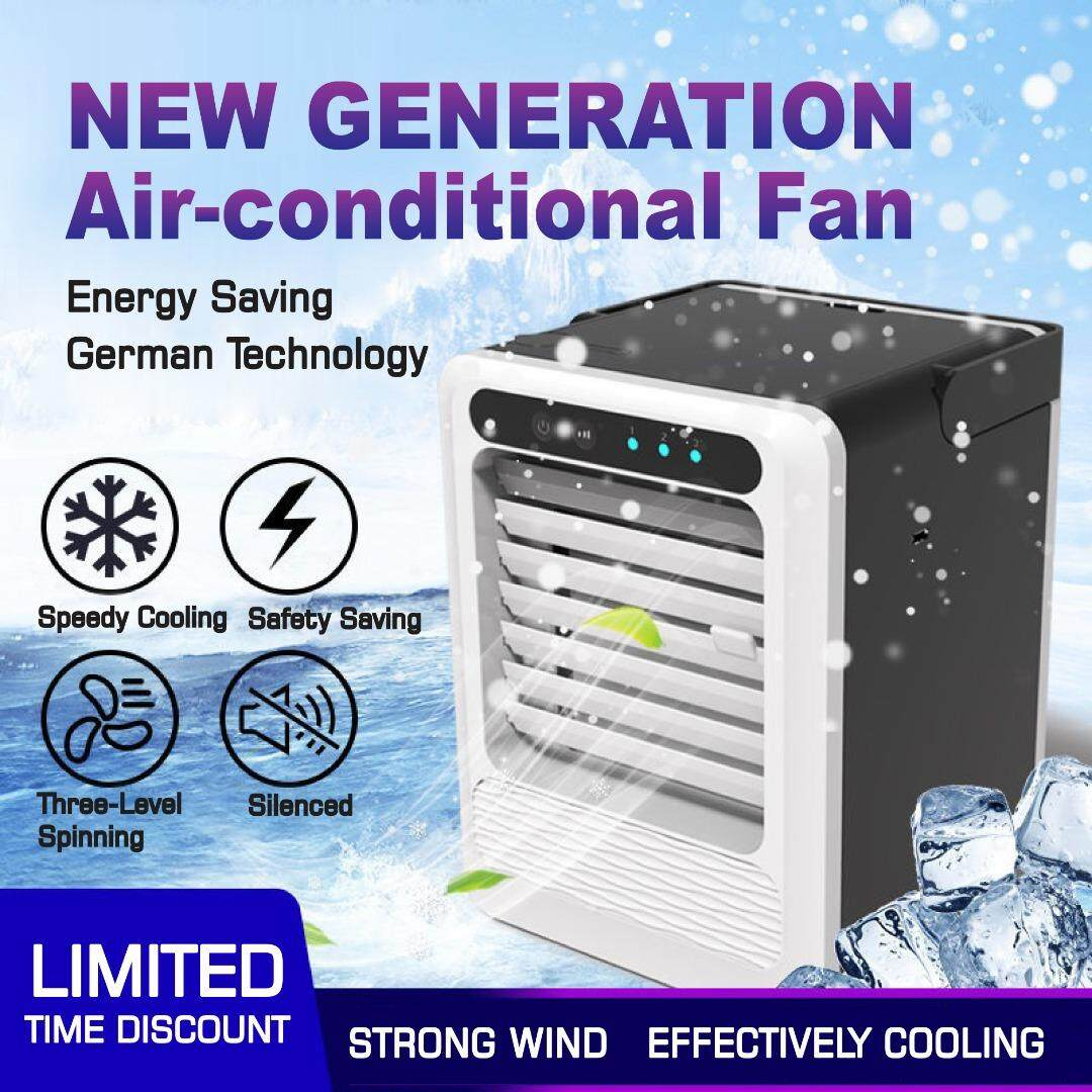 *Ready Stock]Mini air cooler USB small fan portable air conditioning cooling fan third generation