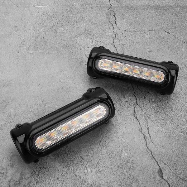 Đèn Báo Rẽ 12 LED Cho Xe Máy 32Mm Đèn Lái Xe, Cho Kawasaki Honda Màu Đen