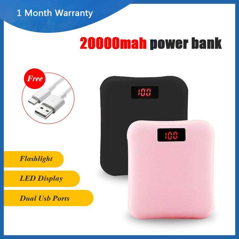 20000mAh Portable Power Bank Fast Charge High Speed Long Lasting Charger  Powerbank External Battery With Free Usb Cable For Vivo Iphone Samsung OPPO