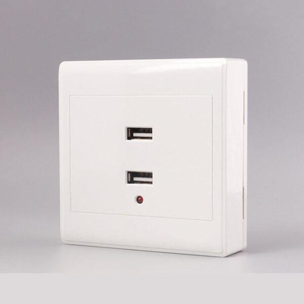 Loại 86 Cổng USB Gắn Tường 4A Bộ Chuyển Đổi Thiết Bị Sạc Tường Bảng Điều Khiển Ổ Cắm Điện Nối Đất Sạc Điện