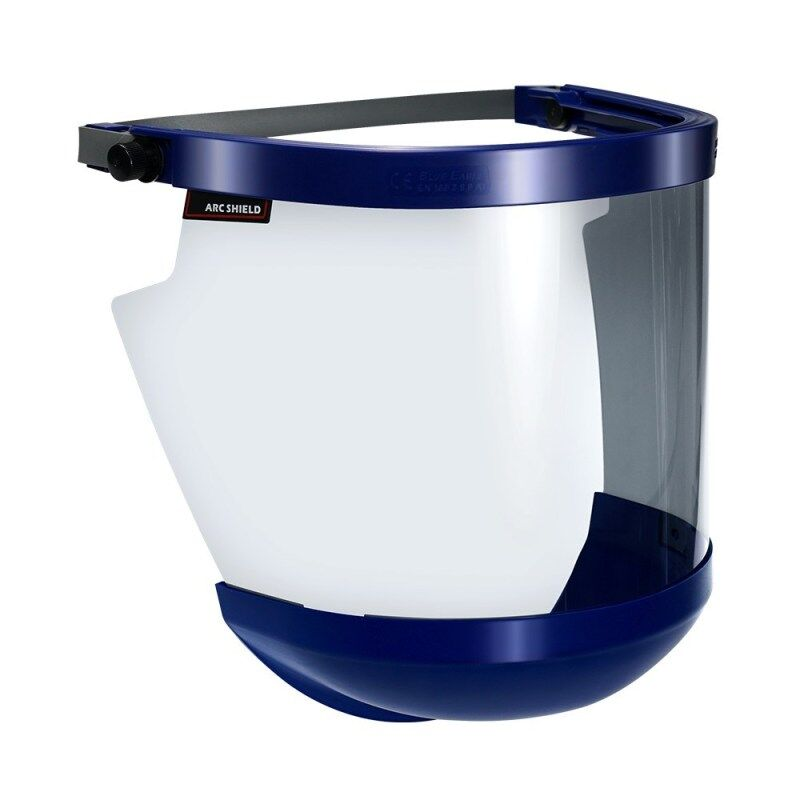 BLUE EAGLE 19 cal Grey Arc Flash 1.5mm Face Shield Visor FCA9 Without Safety Helmet, Certified by ANSI, NFPA, ASTM