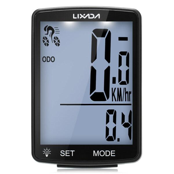 Mua Máy Tính Xe Đạp Không Dây LIXADA Máy Tính Xe Đạp Màn Hình LCD Đa Chức Năng Đồng Hồ Tốc Độ Xe Đạp Leo Núi Đồng Hồ Đo Đường Đồng Hồ Bấm Giờ Đo Nhiệt Độ Đạp Xe Chống Nước IPX6 Phụ Kiện Xe Đạp