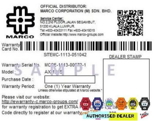 (RAYA SALES) Official Marco Warranty CASIO G-SHOCK G7900 1 100% ORIGINAL Malaysia