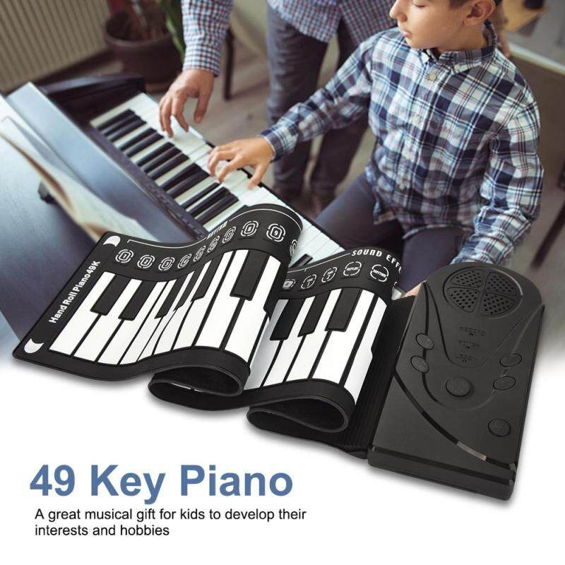 Di động 49 Phím Bàn Phím Điện Tử Cầm Tay Cán Lên Đàn Piano cho Bé Kids Người Mới Bắt Đầu