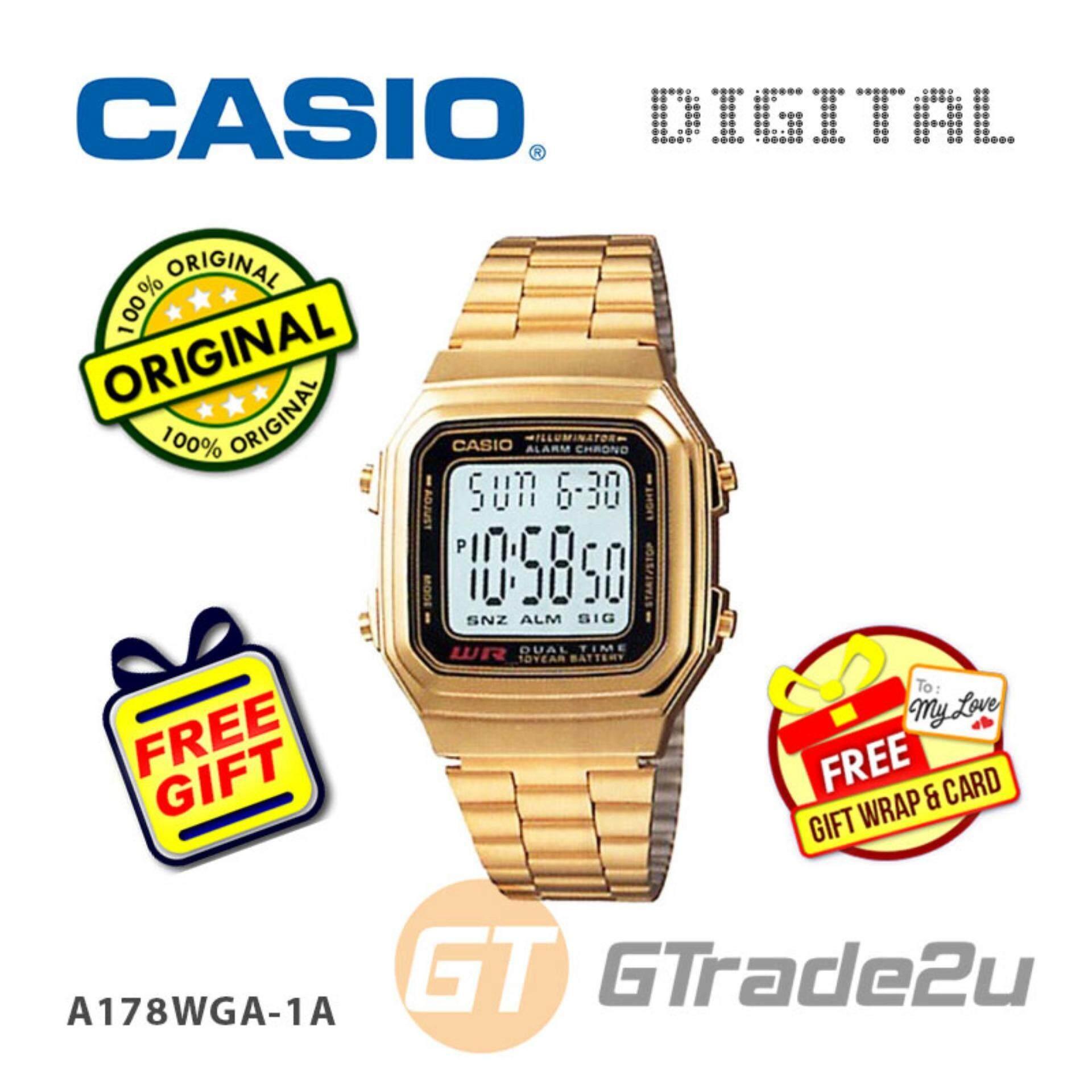 CASIO STANDARD A178WGA-1AV Digital Watch  Vintage Alarm Auto Calendar [PRE] Malaysia