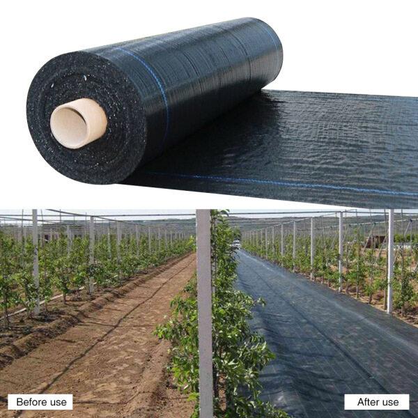 Garden Weeding Control Fabric Decking PE Ground Cover Membrane Garden Landscape Heavy Duty