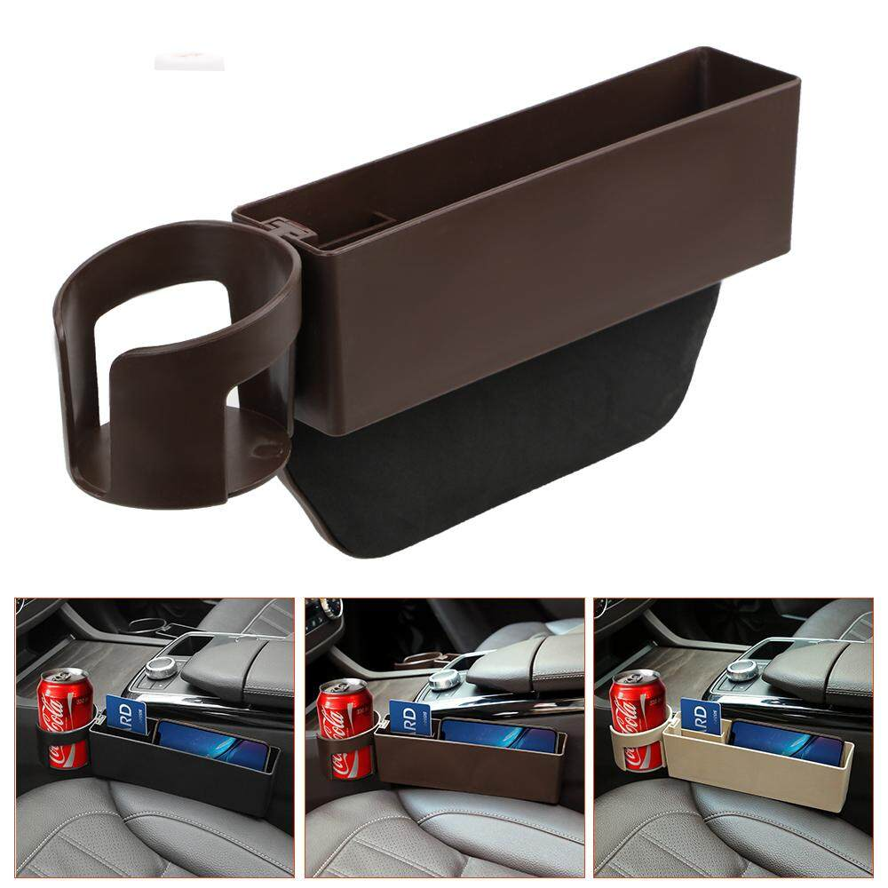 Brown Universal Auto Gap Pocket Drink Holder For Phone Pad Card Coin Case Stowing Tidying Car Storage Box Car Organizer By Youshizhi.