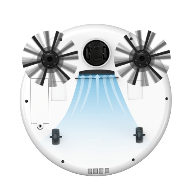 【YIDEA HONGKONG】หุ่นยนต์กวาดบ้านอุปกรณ์แปรงปัดสาม-In-Oneเครื่องดูดฝุ่นอัตโนมัติขี้เกียจทำความสะอาดแปรง