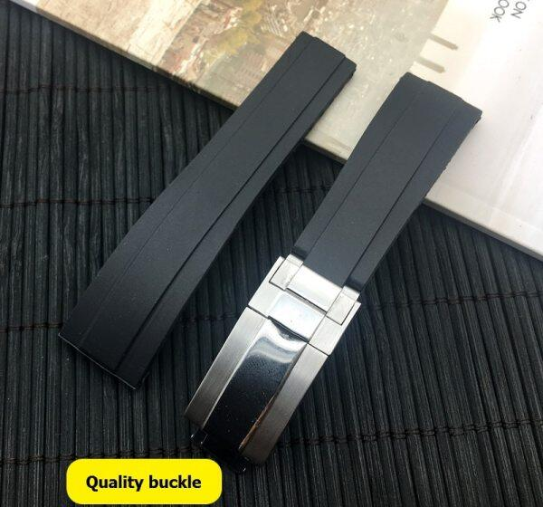 Luxury brand 20mm Black nature silicone Rubber Watchband Watch Strap band For Role Daytona Submariner GMT OYSTERFLEX Bracelet Malaysia