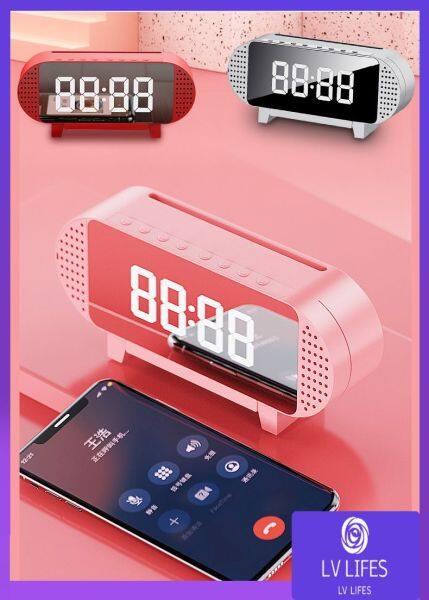 Nơi bán Báo Thức Bluetooth Loa Đồng Hồ A19 Đồng Hồ Báo Thức Gương Với Loa Bluetooth FM Radio LED Có Thể Chỉnh Mờ Hiển Thị 1200 MAh