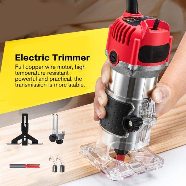 (BEST SALE) Multi-Function Woodworking Electric Trimmer Cutter Wood Milling Engraving Slotting Trimming Machine Router