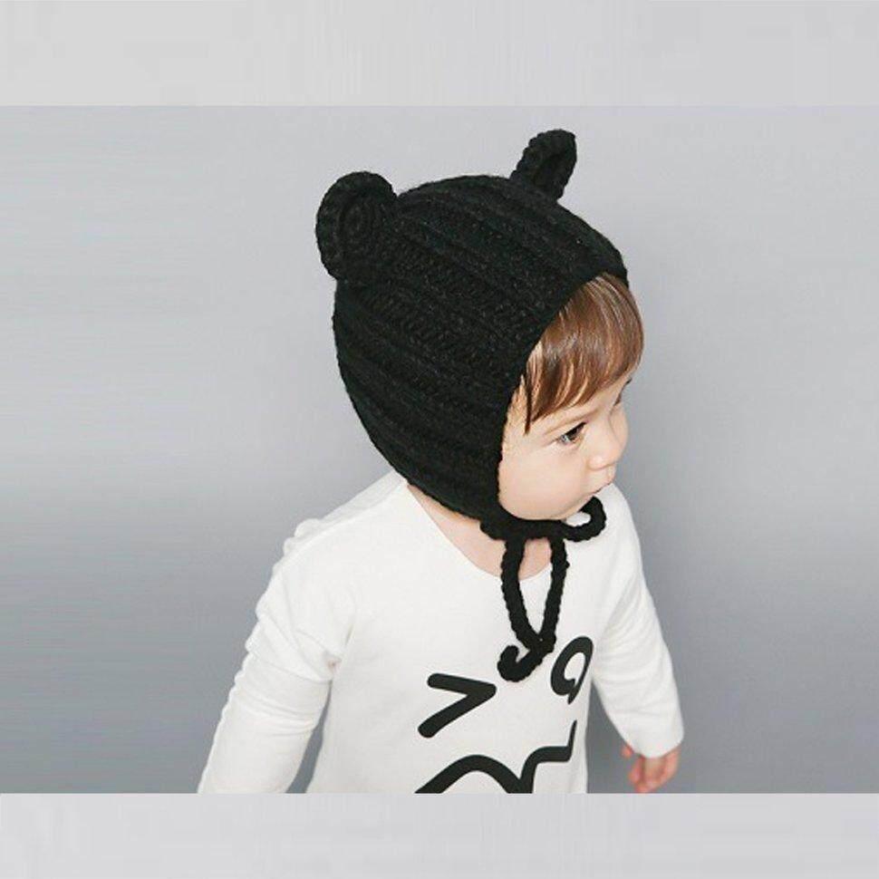 Image 4 for BGD ใหม่หมวกเด็กฤดูใบไม้ร่วงและฤดูหนาว 0-3 ปี Handmade หูหมีหมวก