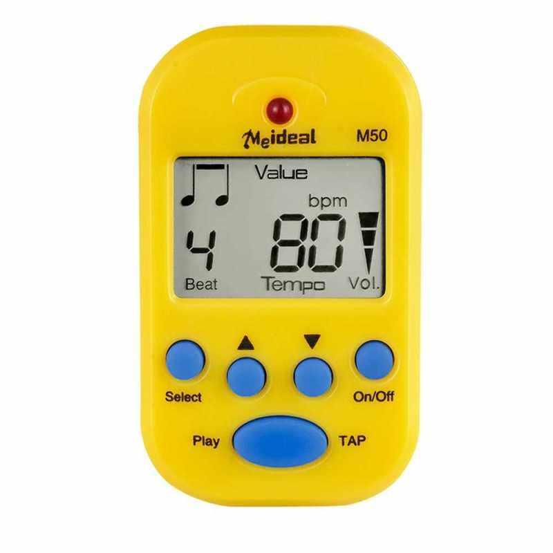 Professional Metronome M50 Digital LCD Clip-on Tuner Metronomfor Guitar Piano Mini Metronomo Musical Instrument Accessories (Yellow) Malaysia