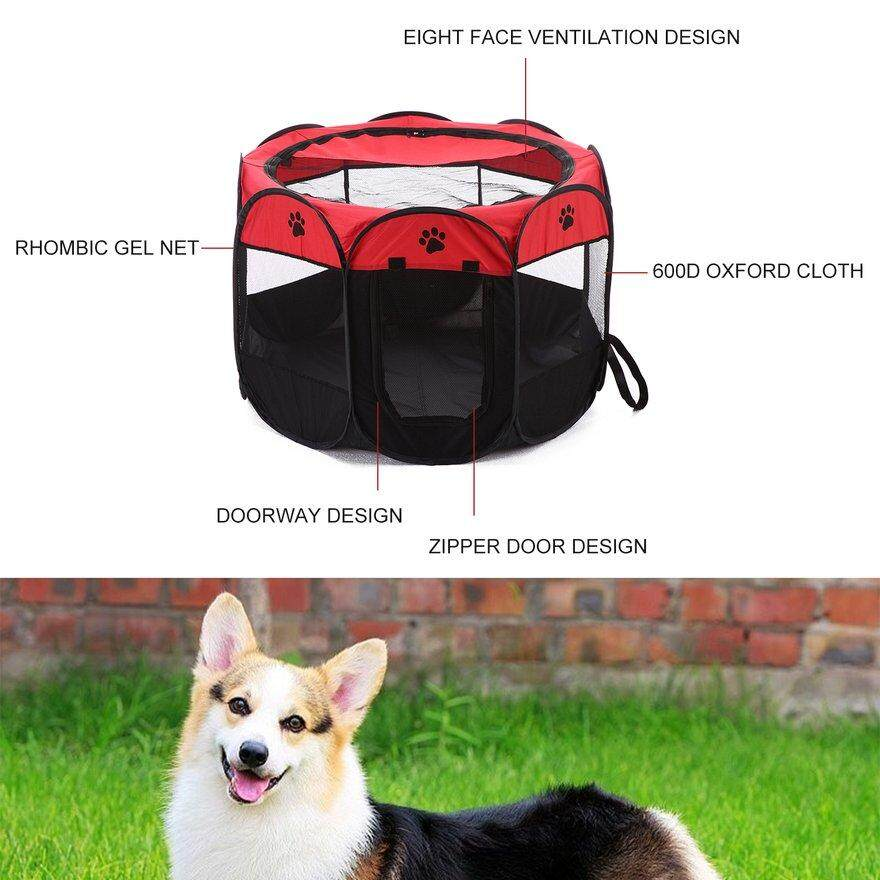 Anext Foldable Breathabe Pets Dogs House Tent Easy Operation Octagonal Fence By Andnext.