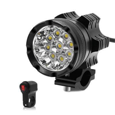 ZH - 738A2 Motorcycle LED Headlight 9 Lamp Bead 45W Front Light with Switch (BLACK)
