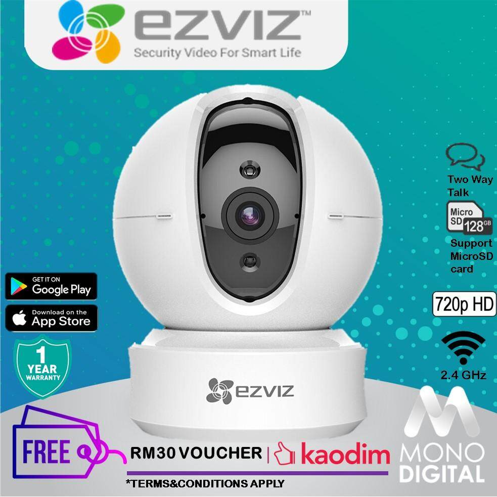 EZVIZ Ez360 1MP C6CN 720P HD Pan Tilt, Two-way Audio, Night Vision, Motion  detection WiFi IP Security Camera +Free Kaodim Voucher RM30