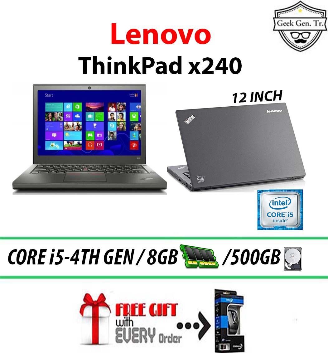 LENOVO THINKPAD x240 INTEL CORE i5-4TH GEN 8GB RAM 500GB HDD 12.5 INCH Malaysia