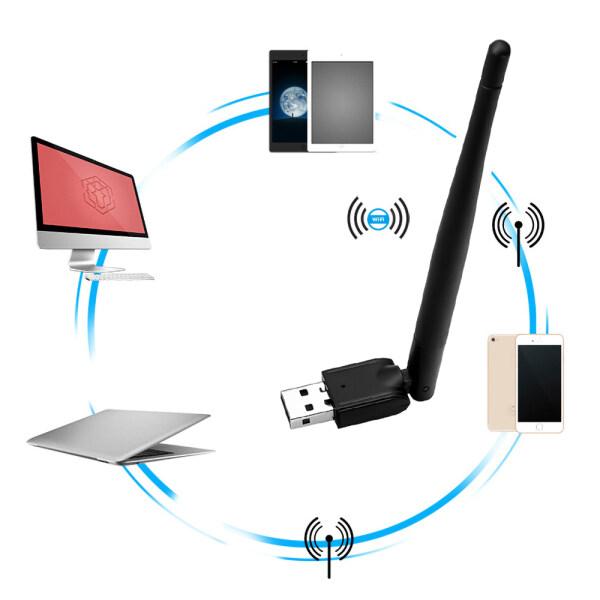 Bảng giá Hot Freesat MT-7601 USB Wifi Adapter Ăng ten không dây Lan Adapter Card mạng cho TV Set Top Box USB Wi-Fi Adpater Phong Vũ