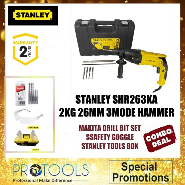 STANLEY SHR263KA 2KG 26MM 3MODE HAMMER WITH STANLEY BITS -  AUTHORISE SERVICE DEALER MALAYSIA