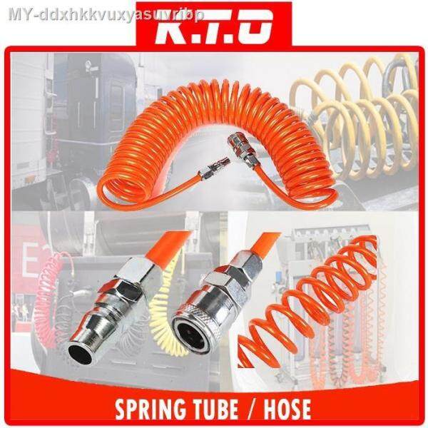 8MM x 5MM FLEXIBLE PU RECOIL HOSE SPRING TUBE FOR COMPRESSOR AIR TOOL