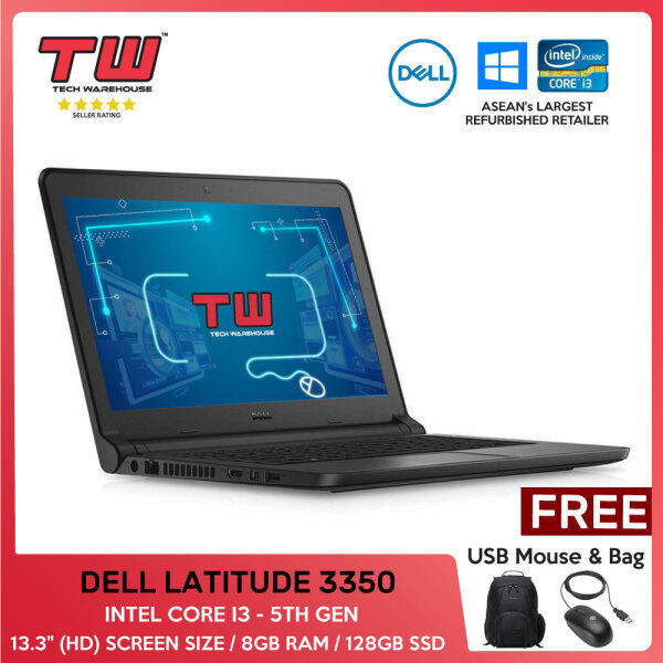 BUSINESS LAPTOP / DELL LATITUDE 3350 / INTEL CORE I3 - 5TH GEN / 13.3 / 8GB RAM /128GB SSD/ WEBCAM Malaysia