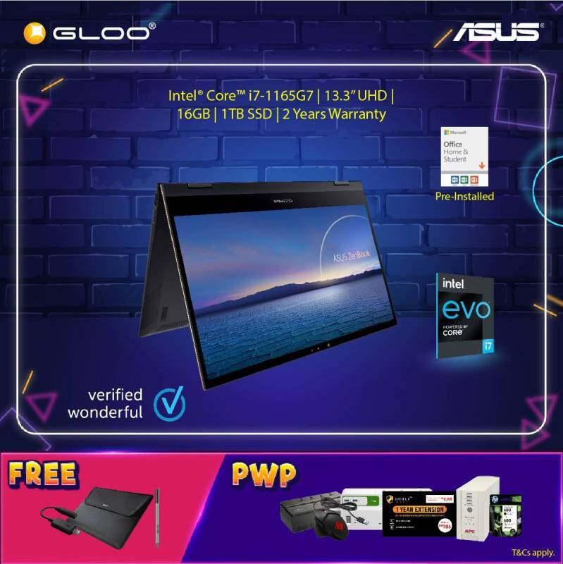 Asus UX371E-AHL283TS Intel®️ Evo™️ Platform Processor Laptop (i7-1165G7,16GB,1TB SSD,Iris X Graphics,13.3 UHD,W10, Jade Blk) Malaysia