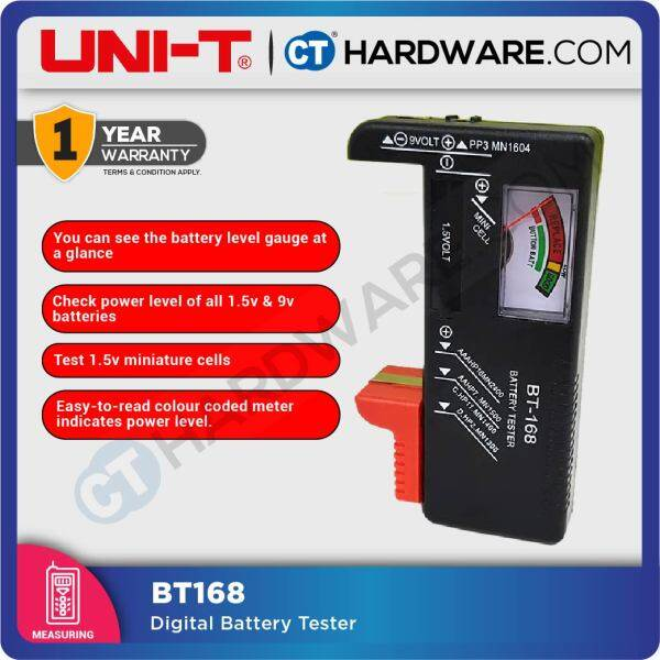 UNI-T BT168 DIGITAL BATTERY TESTER