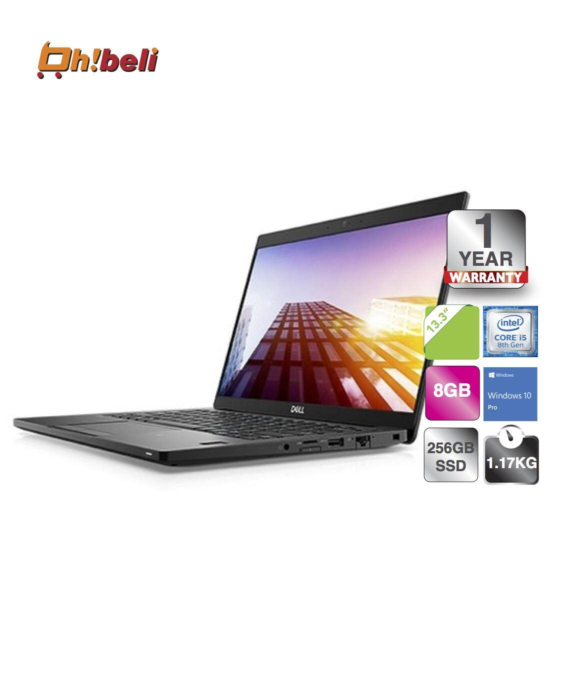 Dell Latitude 3301 Laptop i7-8565U/8GB/512GB SSD/UHD620/13.3''/Win10/Aluminum (DEL-L3301-I7568G-512-W10-FHD-ALM)(ohbeli) Malaysia