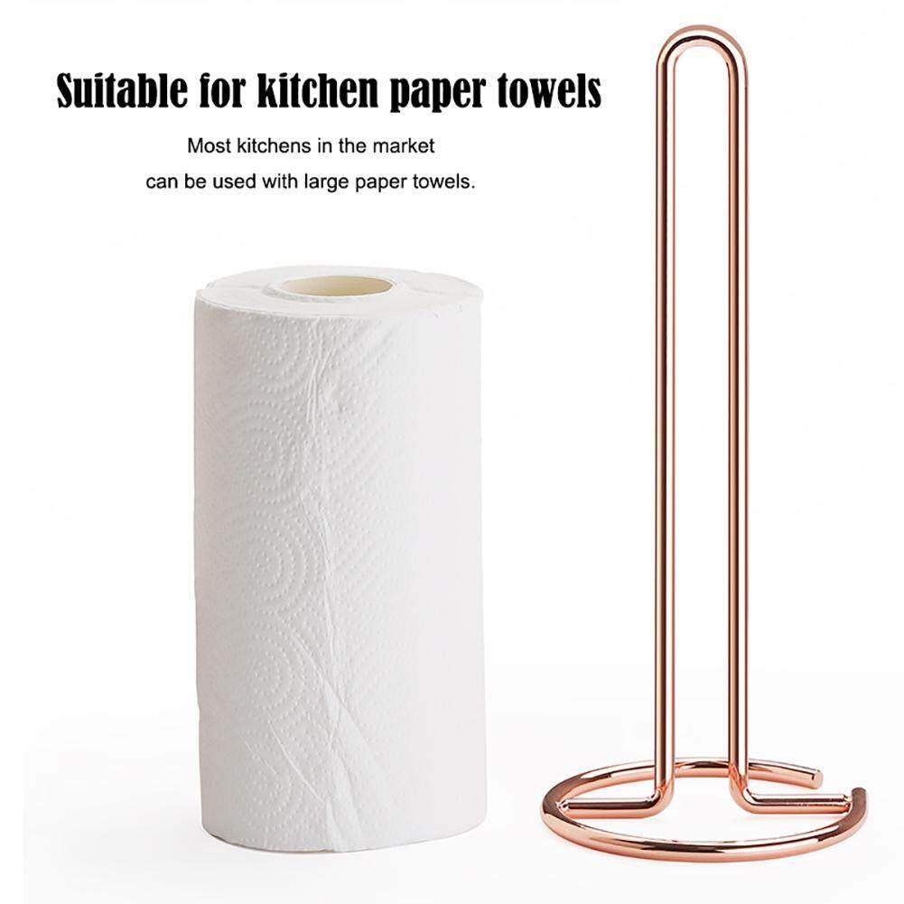 Nordic Wire Kitchen Roll Paper Towel Holder Stand Bathroom Tissue Toilet Napkins Rack Home Desktop Accessories
