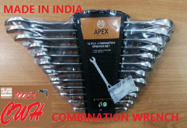 8-19MM 8PCS 12PCS APEX COMBINATION WRENCH SPANNER SOCKET NUT DRIVER
