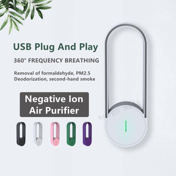 [Hàng Có Sẵn] Máy Lọc Không Khí Anion USB Thanh Oxy Rừng Khói Thuốc Lá Khử Mùi PM2.5 Khử Ion Âm