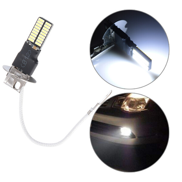 Trắng DRL Canbus 4014 Đèn Pha H3 Đèn Sương Mù Xe Ô-tô Bóng Đèn LED