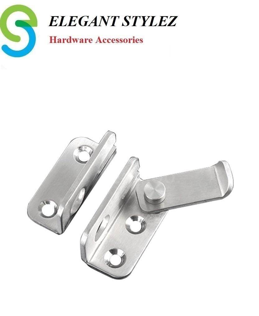 ELEGANT STYLEZ SUS304 Rustproof Stainless Steel Safety Guard Hasp Cabinet Door Latch Security Lock Buckle Hardware Left Open