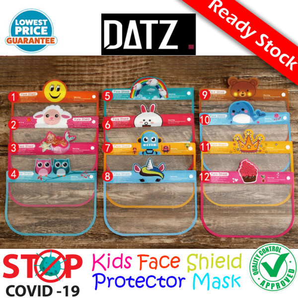 [Datz] 1PC Child Protective Face Mask Face Protection Anti Droplet Full Face Cover Mask Kid Adjustable Cute Safe Clear Kids Face Shield With Sponge儿童防护面罩Topeng Pelindung Kanak-kanak-MA14
