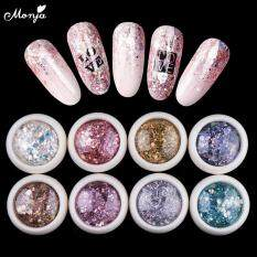 8 Colors Nail Art Mixed Shaped Sequins UV Gel Polish Lấp Lánh Bột Bụi 3D DIY Glitter Flakes Charm Làm Móng Tay Trang Trí