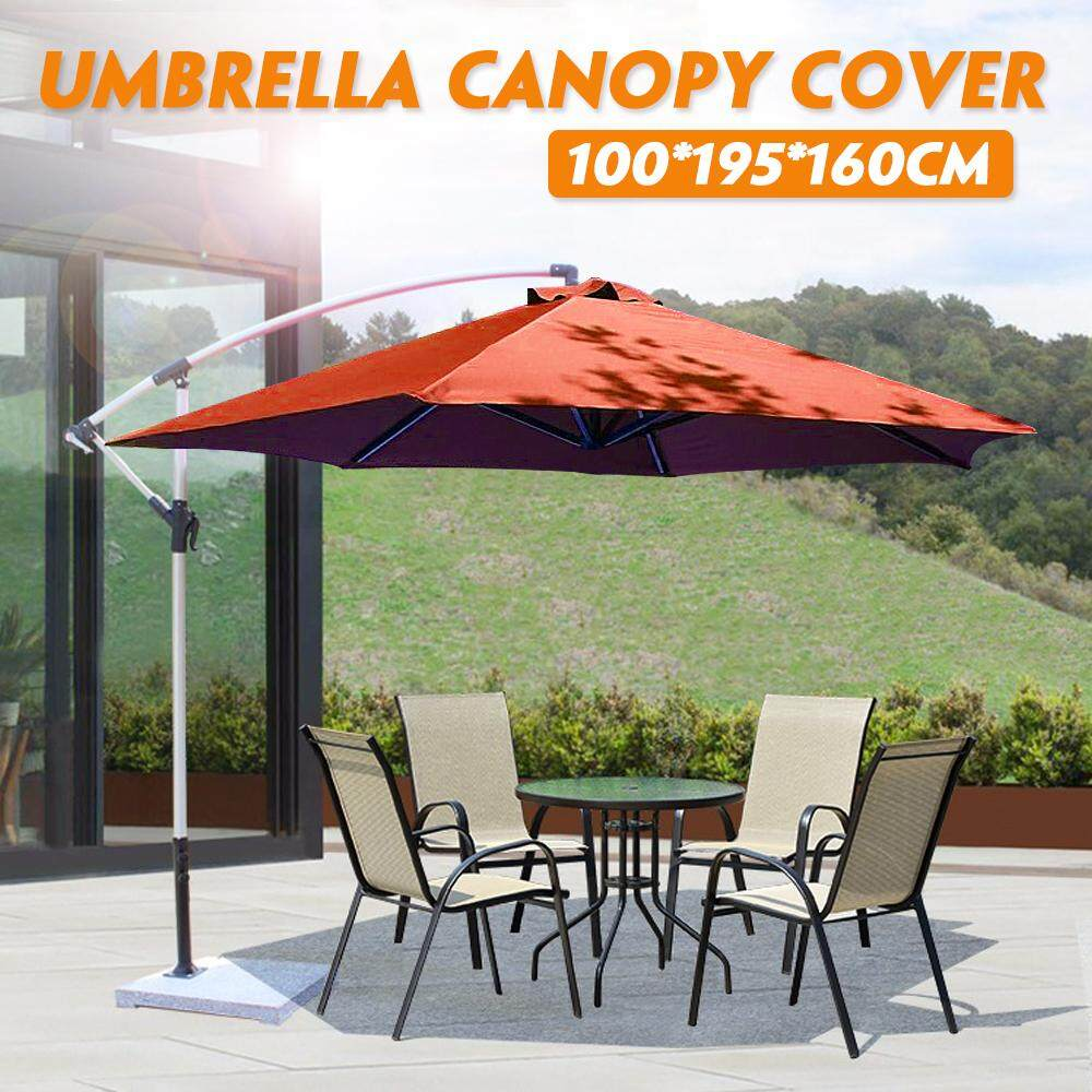dba27e8c27 Outdoor Garden Parasol Canopy Cover Yard Patio Umbrella Fabric 100*195*160cm