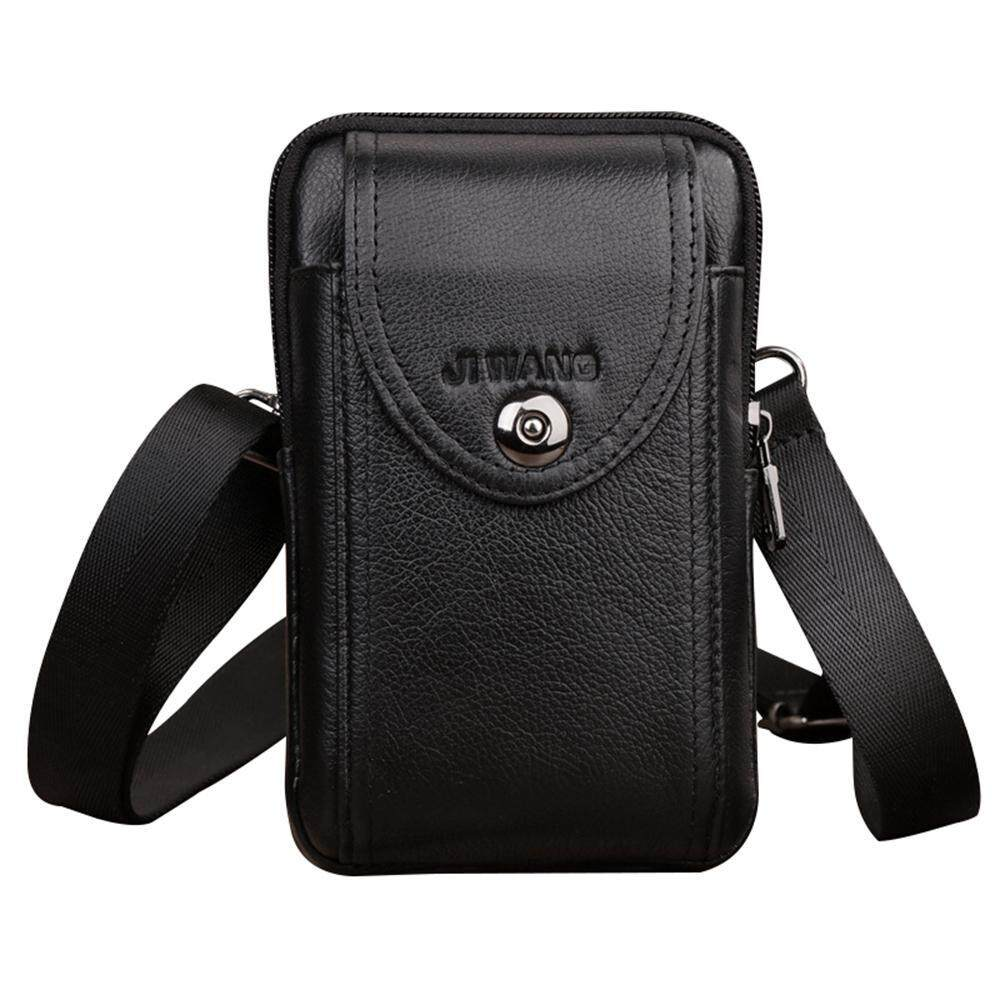 b73f3224a28d Vertical Genuine Leather Belt Bag - Cellphone Holster Waist Pouch   Phone Bag  Small Travel Crossbody