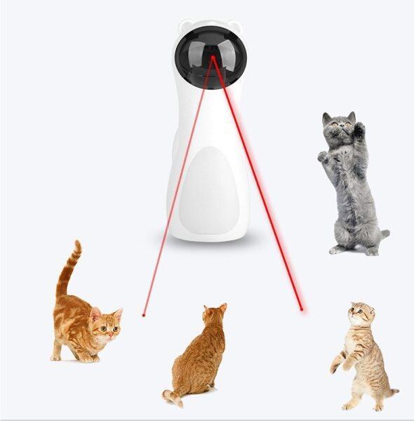 Mèo Đồ Chơi Tương Tác, Đồ Chơi LED Laser Vui Nhộn, Đồ Chơi Cho Mèo Laser Tự Động Đồ Chơi Giải Trí Huấn Luyện Mèo Xoay Tự Động Đa-Góc