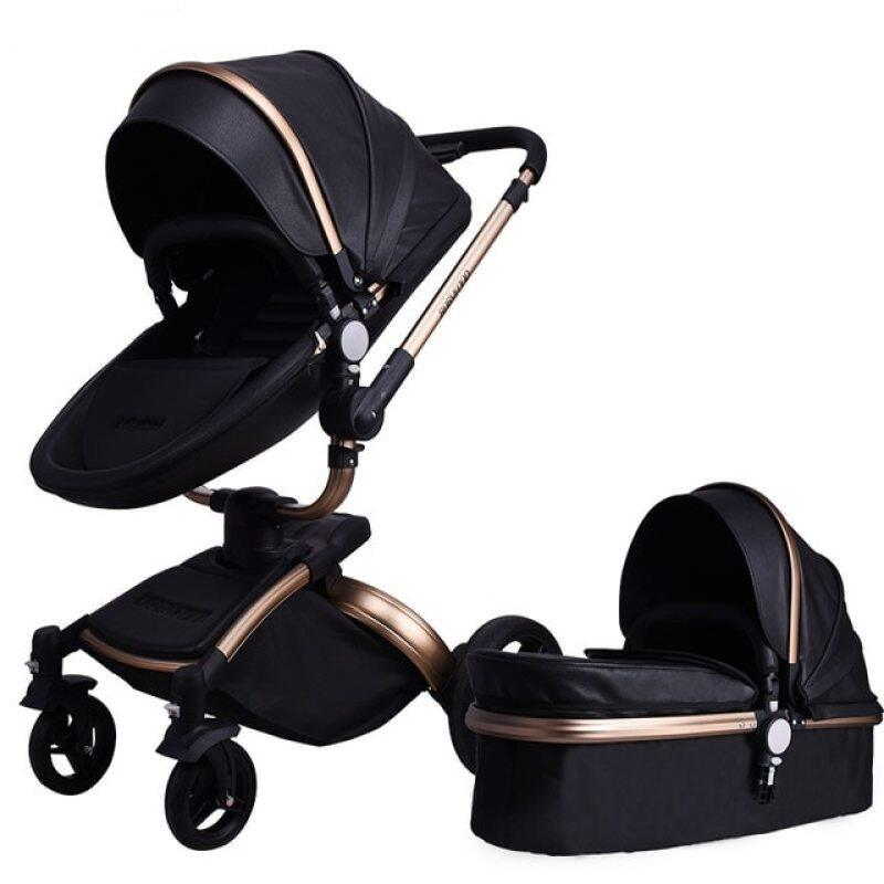 Fast Shipping Free Shipping Aulon Luxury Baby Stroller 3 in 1 High land-scape  Fashion Carriage European design Pram  on 2020 Singapore